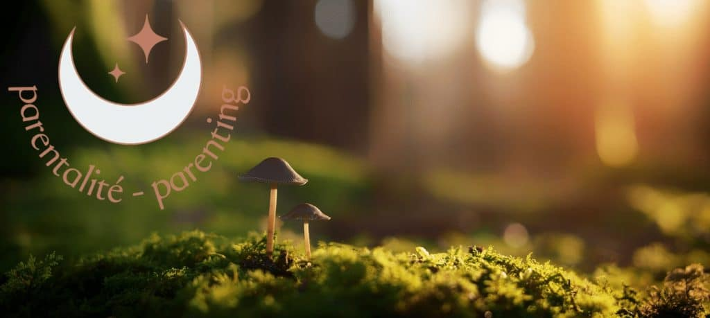 parenting banner page cute mushroom family adorable famille champignon